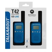 Motorola TLKR T42 Walkie-talkie Twin Pack - Blue