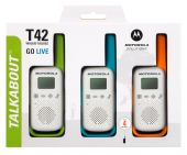 Motorola TLKR T42 Walkie-talkie TRIPLE Pack